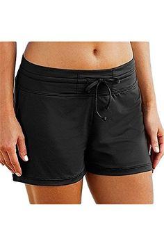 cedea4e013 Micosuza Women's Swimming Shorts Bikini Bottom Swimwear Beach Board Shorts  Swimsuit With Shorts, Swim Shorts