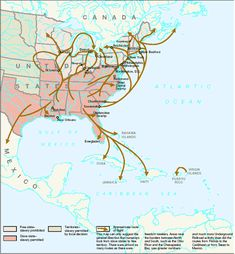 Image detail for -Underground Railroad Map Routes Mapped Routes Escaped Slaves