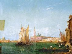 The Athenaeum - Venetian Scene: Gondolas and Sailing Boats (Felix-Francois-Georges-Philbert Ziem - )