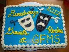 Comedy and tragedy drama cake