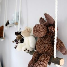 Branch Swing Shelves ANOTHER FOR MY FRIENDS/RELATIVES WITH LITTLE ONES. so cute!