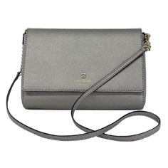 d40cdde49afc Pre-owned Kate Spade Silver Leather Crossbody Bag w Gold Hardware ( 89)