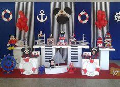 Sailor Birthday, Sailor Party, Sailor Theme, Nautical Mickey, Nautical Party, Baby Boy Birthday Themes, Kids Party Themes, Fiesta Mickey Mouse, Mickey Mouse Birthday