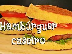 Hambúrguer caseiro (receita do pão, do hambúrguer e da maionese)