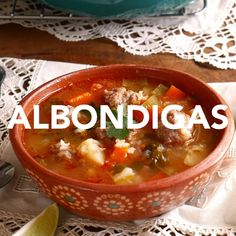 Ultimate Comfort Soup Albondigas… doesn't it sound majestic? What is an albondiga? Albondigas originated in Spain and means a spicy tomato meatball soup. In my book albondiga soup is the ultimate comfort food. Albondigas Soup Recipe Mexican, Mexican Meatball Soup, Mexican Meatballs, Gorditas Recipe Mexican, Sopes Recipe, Menudo Recipe, Picadillo Recipe, Pozole Recipe, Authentic Mexican Recipes