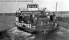 "Ferry ""Frances Ullock"" Pulling away from the dock at Miramichi, ca. 1948. MISCELLANEOUS PHOTOGRAPHS, Provincial Archives of New Brunswick"