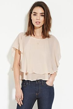 Contemporary Ruffle Chiffon Top