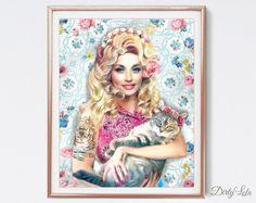 Hoi! Ik heb een geweldige listing op Etsy gevonden: https://www.etsy.com/nl/listing/271090859/dolly-parton-kat-schilderen-illustratie