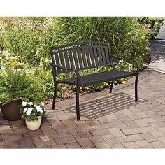 Metal-Garden-Bench-Outdoor-Park-Seat-Patio-Seating-Back-Yard-Deck-Iron-Chair