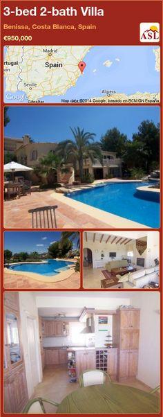 3-bed 2-bath Villa in Benissa, Costa Blanca, Spain ►€950,000 #PropertyForSaleInSpain