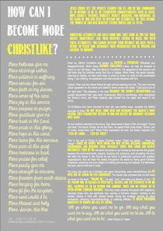 Come Follow Me - LDS - October - How Can I Become More Christlike? - Young Women - YW - Free Printable via Caley Ashpole