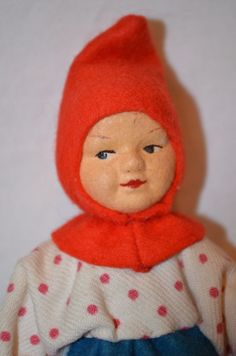 "Vintage 6"" Ronnaug Petterssen NORWEGIAN ELF NISSE GIRL DOLL cloth felt Norway in Dolls & Bears, Dolls, By Type, Cultures & Ethnicities | eBay"
