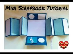 Mini Scrapbook Tutorial | DIY- How to Make a Scrapbook | Scrapbook for beginners - YouTube