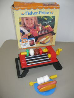 Fisher Price Fun with Food Sizzling Barbecue Grill Set Jouets Fisher Price, Fisher Price Toys, Vintage Fisher Price, 90s Childhood, Childhood Memories, Retro Toys, Vintage Toys, Evil Pranks, Little Tykes