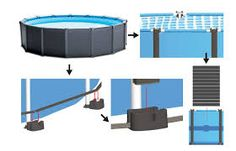 habillage piscine hors sol intex - Google Search Piscine Intex Graphite, Rectangle Above Ground Pool, Pvc, In Ground Pools, Poker Table, Home, Google, Decor, Image