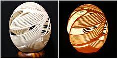 Eggshell Carving Art | Sam Kawaguchi Carved Ostrich Egg Art 1 by ~samkawaguchi on deviantART