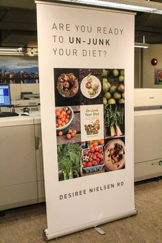 Pop up banner completed for Are you ready to unleash the power of DATA? Pull Up Banner Design, Standing Banner Design, Bunting Design, Pop Up Banner, Food Banner, Food Graphic Design, Food Poster Design, Menu Design, Food Design