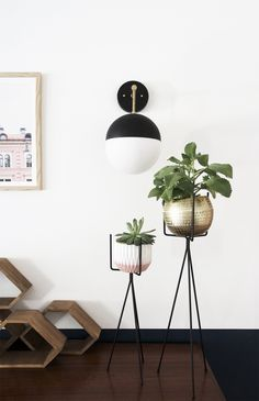 Instructions and Parts list for minimalist DIY Brass & Black Globe Light Fixture