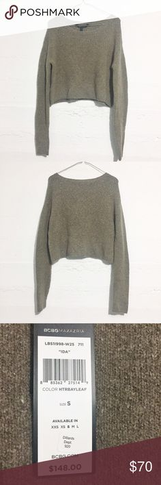 BCBG Max Azria Cropped Sweater Super soft feel. New with tags! BCBGMaxAzria Sweaters Crew & Scoop Necks