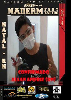 Allan tattoo Brasil - Evento Naderm - Natal RN