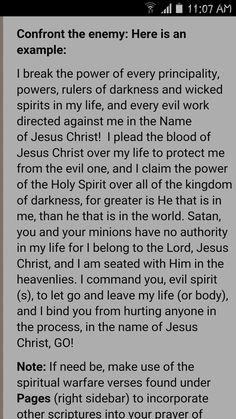 Spiritual Warfare Prayer by Charles F  Stanley | Spiritual Warfare