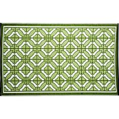 @Overstock.com - The Bali indoor/outdoor mat highlights a contemporary geometric pattern design. This reversible, carefree and weather proof mat is made with highest grade of recycled PP and tightly woven tubular yarn which promotes durability.http://www.overstock.com/Home-Garden/Bali-6-x-9-Indoor-Outdoor-Reversible-Area-Rug-by-b.b.begonia/6753503/product.html?CID=214117 $98.99