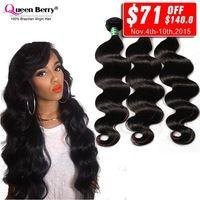 8a Grade Virgin Unprocessed Human Hair Brazilian Hair Weave Bundles 3Pcs Lot Brazilian Virgin Hair Body Wave Queen Berry Hair