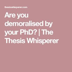to write a master thesis
