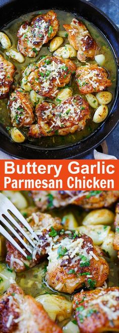 Buttery Garlic Parmesan Chicken – amazing skillet chicken with garlic and Parmesan cheese. Made with simple ingredients but SO good   rasamalaysia.com