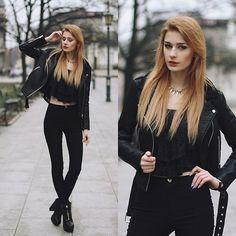 Katarzyna Konderak - Jacket, Oasap Top, Hair - Lace top.