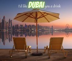 I'd like Dubai you a drink.  #drink #thirst #cocktail #coffeelovers #drinks #thirsty #happyhour #cocktails #cheers #dubai Travel News, New Travel, Budget Travel, Vacation Deals, Vacation Destinations, Holiday Destinations, Villas, Uk Deals, Best Shopping Sites