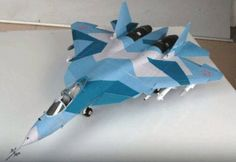 Sukhoi PAK FA (T-50) Fighter Free Aircraft Paper Model Download
