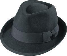5d358dd3b5d Henschel Hats 5018 Wool Felt Fedora Ribbon Band And Binding Stingy Brim  Black
