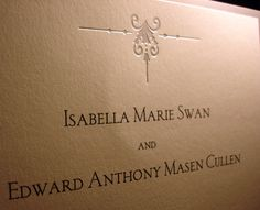 Twilight Wedding Invitation for Bella and Edward by curiousgood, $20.00