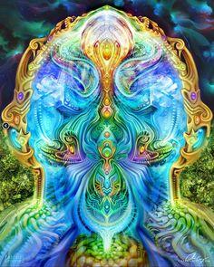 """Intergalactic Threshold""  collab by @farbo & @dream_nectar #visionaryart #trippy #psychedelic #LSD #DMT #psyart by psyart #instagram"