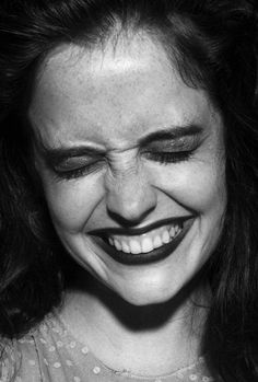 laugh | Eva Green | actor | 07 | closeup | candid | bw | ram2013
