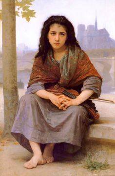 The Bohémian by French Painter William Adolphe Bouguereau 1825 - 1905 http://www.wikipaintings.org/en/william-adolphe-bouguereau/the-bohemian-1890