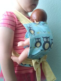 Big sister gift from baby Baby doll Mei Tai doll carrier by Sweetlittlestitching on Etsy, $16.00