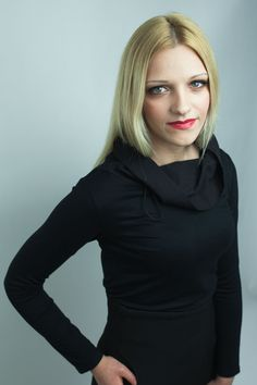 Womens clothing Black womens shirt Long sleeve by HocusPocusStudio, $92.00