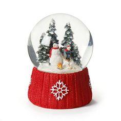 Boule à neige rouge - Noël Traditionnel