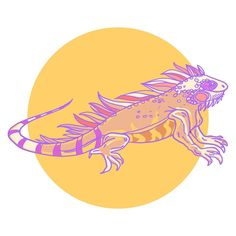 You know that feeling when you wake up and you just want to draw an iguana? Well that's how I woke up yesterday.