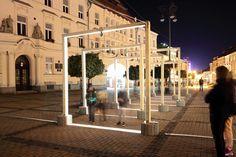 LIGHT EXPO 2015 light&design, SNP Square, Banská Bystrica, Slovakia - Photo: Courtesy of Bellatrix - Lighting products: iGuzzini Illuminazione #Trick #Graphiclighting #iGuzzini #Lighting #Light #Luce #Lumière #Licht #Inspiration #Effetti #LightingEffect #Experience