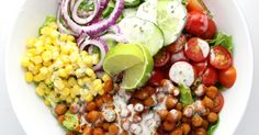 BBQ Chickpea Salad: hearty, healthy, satisfying, eat your veggies and lick your fingers kind of salad.