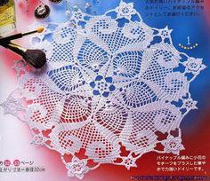 Crochet Art: Doily - Crochet Doily - Gorgeous Design lots of gorgeous designs Crochet Dollies, Crochet Stars, Crochet Round, Crochet Home, Thread Crochet, Cotton Crochet, Filet Crochet, Crochet Doily Patterns, Crochet Designs