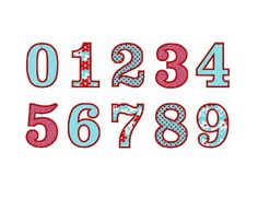 For Colton INSTANT Download - Headline Numbers applique embroidery design - 6 sizes
