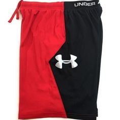 Under Armour Youth Black, Red Athletic Shorts, Size XL With Hip pockets And Draw Strings. Free T Shirt Design, Kids Uniforms, Short Shirts, Mens Activewear, Under Armour Men, Sport Casual, Gym Wear, Sock Shoes, Athletic Shorts