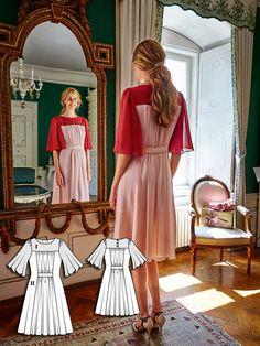 Frills Dress 12/2015 #burdastyle #sew #sewing #diy #dresspattern