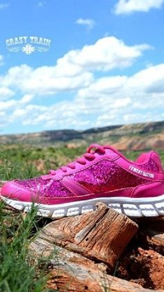 Crazy Train Women's So Glam I Sweat Glitter Athletic Shoes Size 8 Pink  #CrazyTrain #Athletic