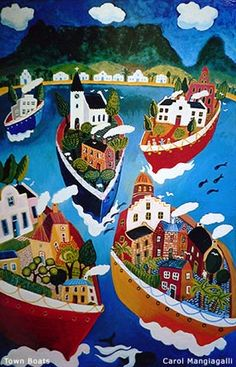 South Africa ~ Carol Mangiagalli ~ Town Boats