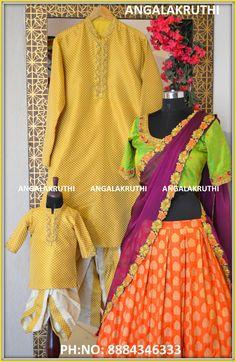 family matching dress designs custom designer wear in bangalore bangalore boutique for twining dress designs designer wear in bangalore Mother Daughter Dresses Matching, Mother Daughter Outfits, Mommy And Me Outfits, Mom Daughter, Matching Family Outfits, Baby Birthday, Birthday Ideas, Designer Wear, Designer Dresses